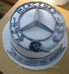 Mercedes benz cake mercedes logo pastası