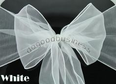 New 2017 Wholesale 10 pcs 18*275cm Home/Wedding /Patry /Banquet Decor Organza Chair Sashes Bow Cover Sashes Decoration Gauze