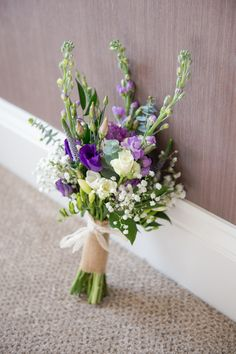 Purple Green White Bouquet Flowers Bride Bridal Rustic Woodland Glade Wedding http://razzleberryphotography.co.uk/