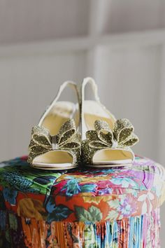 Gold Kate Spade shoes |
