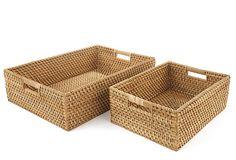 S/2 Storage Baskets, Large, Natural on OneKingsLane.com, $129