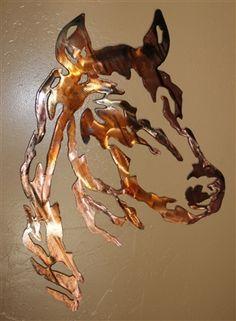 Horse Head Lg Version Metal Wall Art Western Decor x Scrap Metal Art, Metal Wall Art, Metal Artwork, Western Decor, Western Art, Horse Wall Art, Steel Art, Scroll Saw Patterns, Art Archive