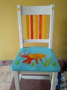 such a cute reuse of an old chair!