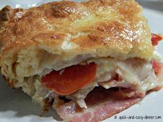 What a wonderful combination of flavors this Kentucky Hot Brown Bake is!