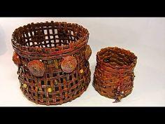 Como hacer cestas con periódicos. Newspaper basket. - YouTube