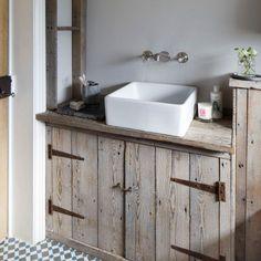 Reclaimed wood bathroom storage   bathroom storage ideas   PHOTO GALLERY   Ideal Home   housetohome.co.uk