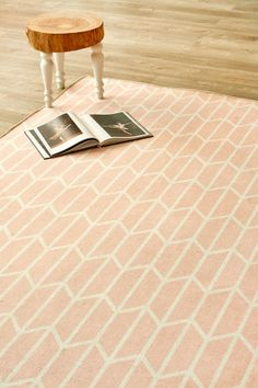 Geo Chevron Rose: X metres. Please note that, as these printed rugs are mad. My Workspace, Rug Making, Geo, Color Splash, Tile Floor, Chevron, Rugs, Prints, South Africa