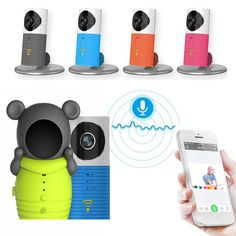 Free Shipping!Mini Wireless wifi baby monitor with camera Infant Baby video Security Two-way TOPS Audio Night Vision