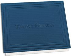 California Classic Frame Navy Note Cards with Triple Thick Stock