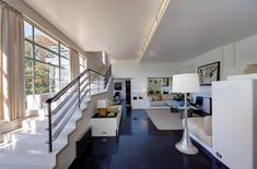 Interior of original 1930s house in the US, notice the wonderful stairs