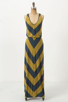 Ribbed Chevron Maxi Dress #anthropologie