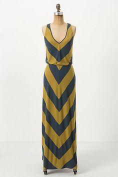 Ribbed Chevron Maxi Dress ~ <3