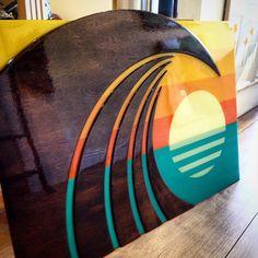 HOKUA - wood wall sculpture by artist Shaun Thomas. #art #surf #wall #decor…