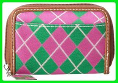 Sydney Love Argyle Mini Wallet,Pink/Green,One Size - Wallets (*Amazon Partner-Link)
