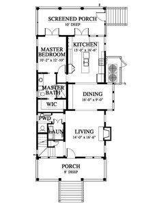 Sequoyah House Plan Design from Allison Ramsey Architects Local Architects, 3 Bedroom House, Plan Design, Second Floor, House Plans, Floor Plans, Flooring, How To Plan, Building