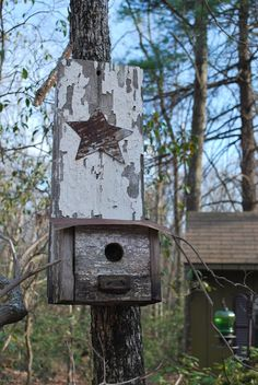 Cool rustic birdhouse