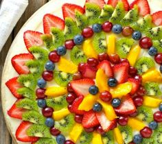 Pretty Mandala-style fruit platter #5aday.co.nz