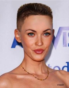 head shaved Megan fox