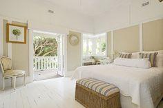 white bedroom dresser  LOVE those doors onto a veranda!