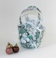 """Some time ago, I got a challenge from Hobbykunst. """"Use as many Rayher dies as possible in one project"""". Lady Dior, Gift Baskets, Gifts, Bags, Fashion, Sympathy Gift Baskets, Handbags, Moda, Presents"""