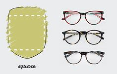 Square Shaped Face / The only Face Shape Guide you need to find the perfect pair of glasses for you http://milk-eyewear.tumblr.com/post/130147874082/to-know-face-shape-guide-find-your-finest
