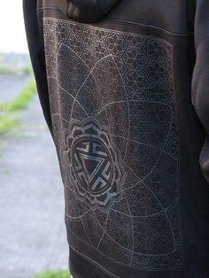 Men's Black on Black Hoodie Water Resistant Zip up by Rythmatix