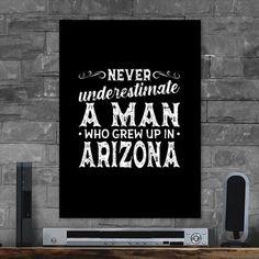 Metal Poster Man Who Grew Up In Arizona
