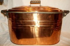 ANTIQUE COPPER WASH BOILER KETTLE FIRE WOOD WHISKEY STILL ICE TUB COOLER CANNER