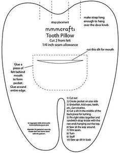 Muela Guardadientes 2019 Looks like I'm going to need this soon-tooth fairy pi. Muela Guardadientes 2019 Looks like I'm going to need this soon-tooth fairy pillow pattern The post Muela Guardadientes . Tooth Pillow, Tooth Fairy Pillow, Neck Pillow, Sewing Hacks, Sewing Crafts, Sewing Projects, Sewing Pillows, Diy Pillows, Pillow Ideas