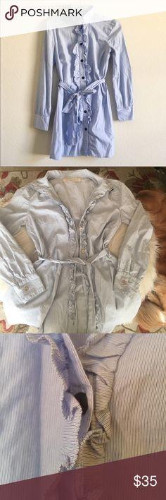 Selling this Blue Bird Shirting Anthropologie Shirt Dress on Poshmark! My username is: lmc226. #shopmycloset #poshmark #fashion #shopping #style #forsale #Anthropologie #Dresses & Skirts