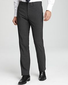 Theory Tailor Marlo Pants in Charcoal | Bloomingdale's