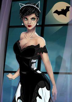 Catwoman Wedding dress by on DeviantArt Costume Catwoman, Catwoman Comic, Batman And Catwoman, Dc Comics Art, Comics Girls, Marvel Dc Comics, Cosplay Gatúbela, Batgirl Cosplay, Anime Cosplay
