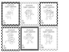 Jour de Saint Valentin - Valentine's Day Cards in French Cute Valentines Day Cards, Be My Valentine, Core French, Teaching Materials, Teaching Ideas, Teaching French, Are You The One, Middle School, Saints