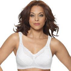 Playtex Bra: 18 Hour Comfort Lace Full-Figure Bra 4088 - Women's, White