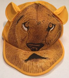 Lion Snapback Hat with Ears Multicolored in Clothing, Shoes & Accessories, Unisex Clothing, Shoes & Accs, Unisex Accessories | eBay
