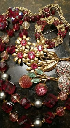 Vintage West germany jewelry lot with rhinestones and more