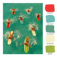 Color study for vintage surfing poster at Huntington Beach Vintage Surfing, Surf Vintage, Vintage Travel, Retro Surf, Vintage Art, Vintage Theme, West Coast Usa, Surf Mar, Beach House Style