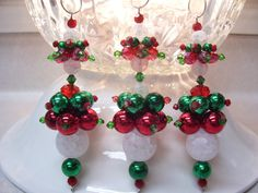 traditional colors christmas dangle ornaments