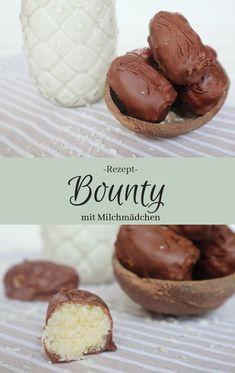 Bounty®️️️ - Riegel selber machen mit Milchmädchen, Kokosraspeln und Kuvertüre | Schnelles Rezept | #bounty #recipe #bountyriegel #schokoriegel #kokosriegel