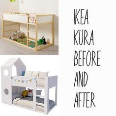 """Check out our website for even more information on """"bunk beds for kids room"""". It is an outstanding spot to read more. Ikea Bed Hack, Ikea Kura Bed, Ikea Hacks, Ikea Hack Kids Bedroom, Girl Room, Girls Bedroom, Child's Room, Ikea Kids, Kids Bunk Beds"""