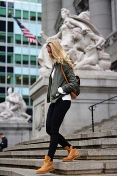 6ebe00ba0b55 How To Wear Timberland Boots If You Are A Girl - Outfits With Timberlands