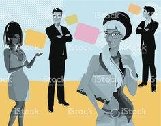 People. royalty-free stock vector art
