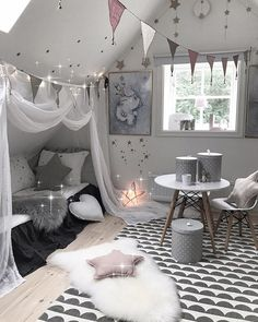 New Room Decor Ideas Bedroom Girls Bedding Ideas Gray Bedroom, Trendy Bedroom, Bedroom Bed, Home Decor Bedroom, Bedroom Girls, Bedroom Curtains, Wood Bedroom, Bedroom Furniture, Toddler Rooms
