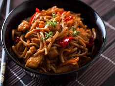 Asian Recipes, Ethnic Recipes, Exotic Food, Kung Pao Chicken, I Love Food, Japchae, Street Food, Noodles, Spaghetti