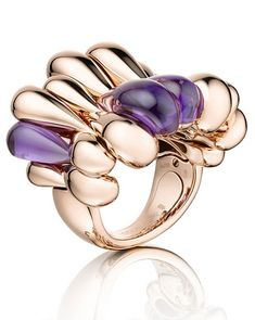 de GRISOGONO rose gold and amethyst Gocce ring.