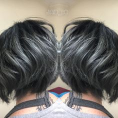 Image result for short grey ombre hair