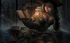 fantasy pirate art | Fantasy Pirate Witch