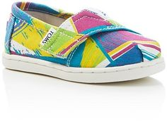TOMS Girls' Classic Triangle Slip On Sneakers - Baby, Walker, Toddler