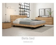 Click here to see Mobican's Bella bed. It is accompanied by our Avita double dresser and night table | Cliquez ici pour voir le lit Bella de Mobican. Il est accompagné du bureau double et d'une table de nuit Avita: http://mobican.com/en/bella/  #mobican #bed #bedroom #madeincanada #contemporary #wood #furniture #chicindustrial #HPMKT
