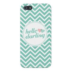Hello Darling Chevron Stripes iPhone 5 Case. By TheSpottedOlive.